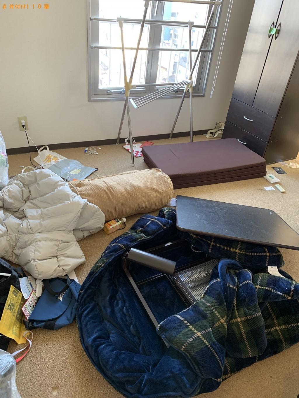 【京都市上京区】ローテーブル、ウレタンマットレス等の回収・処分