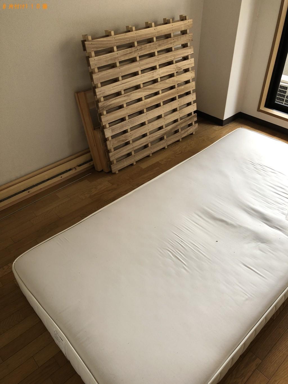【京都市東山区】ローテーブル、シングルベッドの回収・処分ご依頼