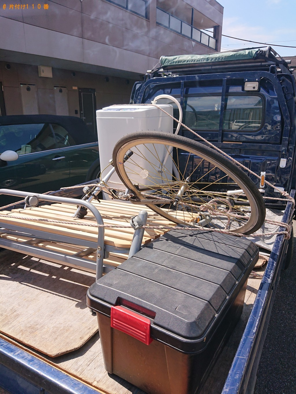 【福知山市】洗濯機、折り畳みベッド、カラーボックスの回収・処分