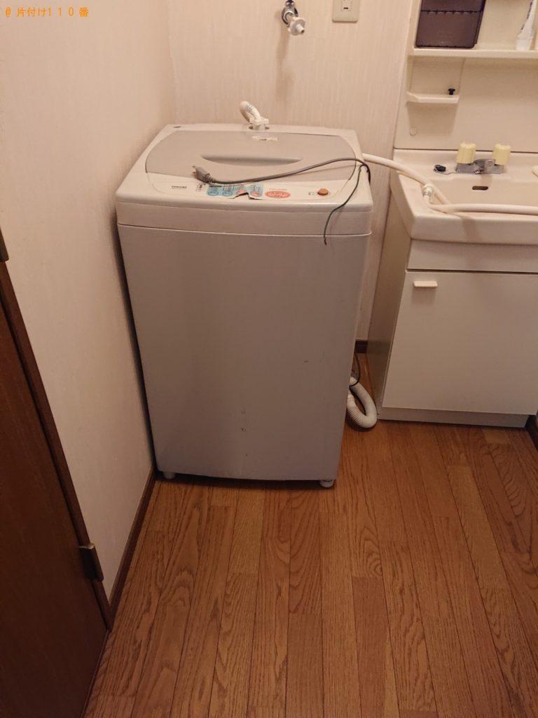 【江南市】遺品整理で洗濯機、折り畳みベッド、カラーボックスの回収・処分