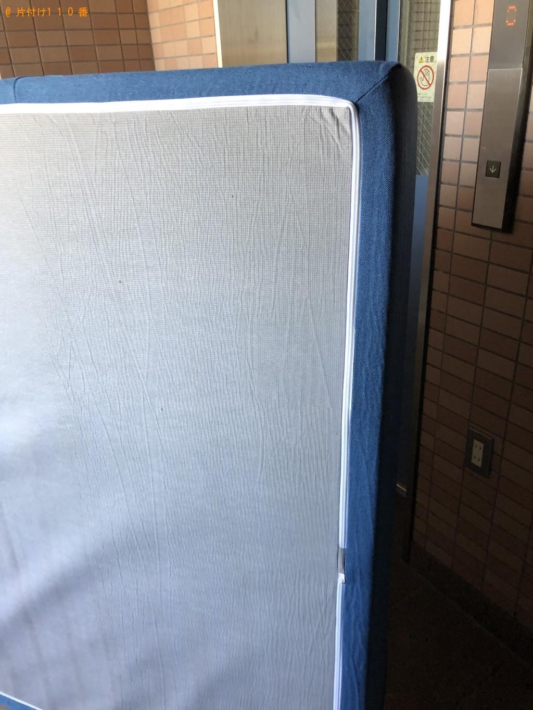 【京都市下京区】ダブルベッドマットレスの回収・処分ご依頼