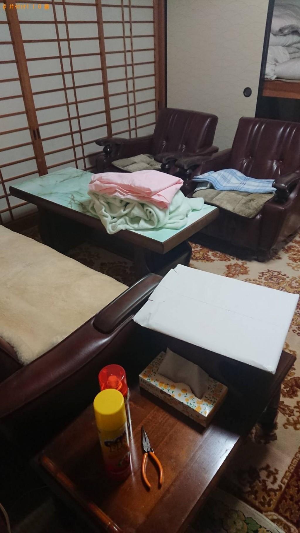 【福知山市】冷蔵庫、布団、テーブル、食器棚等の回収・処分ご依頼