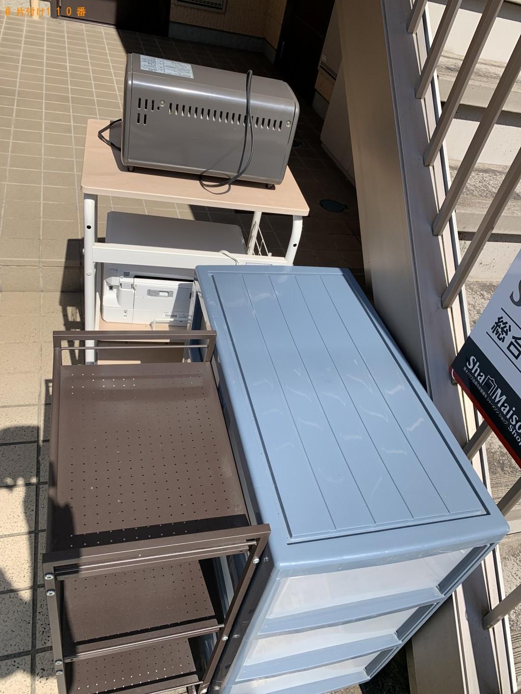 【京都市西京区】洗濯機、折り畳みベッド、パソコンデスク等の回収