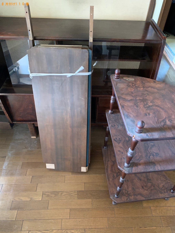 【京都市南区】本棚、タンス、シングルベッドマットレス等の回収