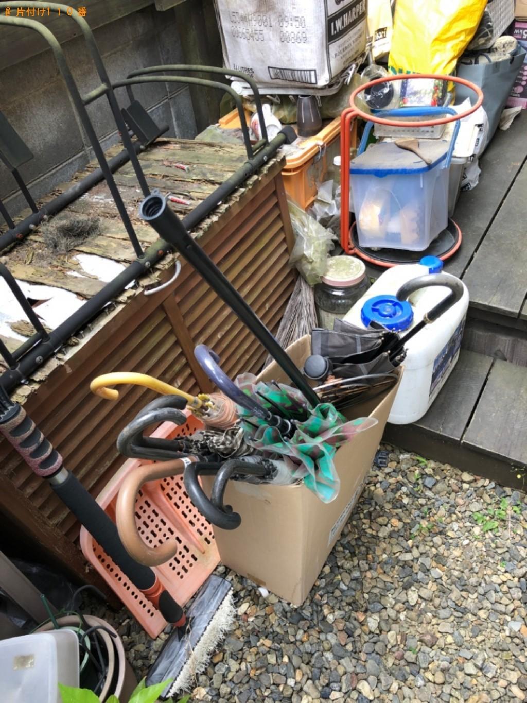 【京都市左京区】傘、収納ケース、棚、食器、ダンボール等の回収