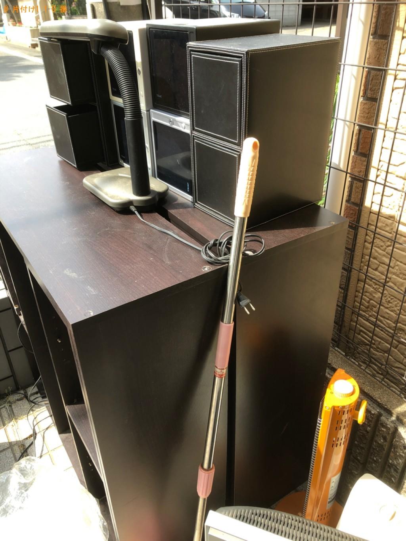【京都市南区】テレビ、本棚、PCデスク、電気ヒーター等の回収
