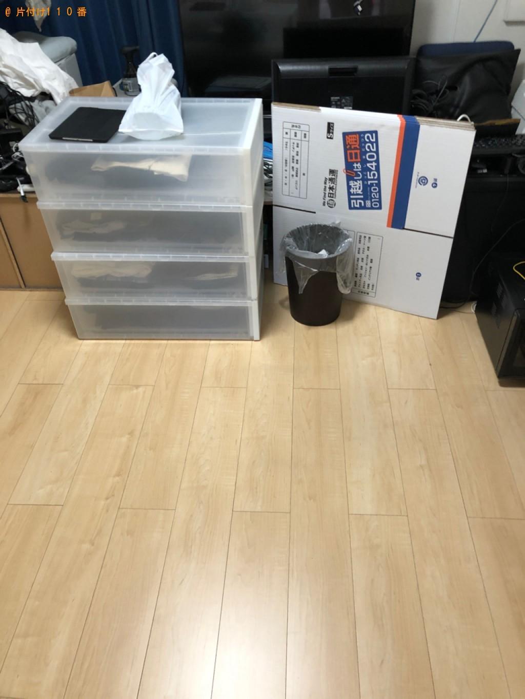 【長岡京市】PCデスク、椅子、ラック、セミダブルベッドの回収