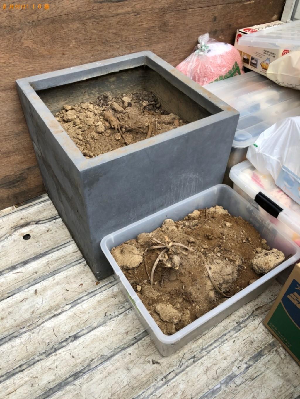 【京都市】土が入った植木鉢の回収・処分ご依頼 お客様の声