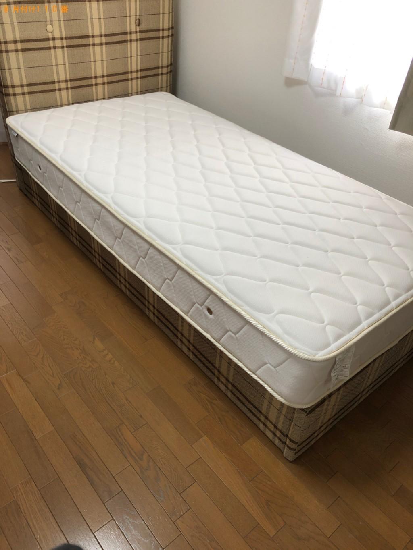 【京都市中京区】シングルベッド、ベッドマットレスの回収・処分