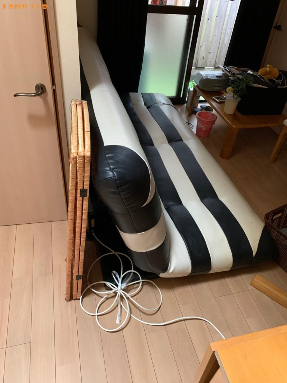 【京都市下京区】ソファーベッド、ローテーブル等の回収・処分ご依頼
