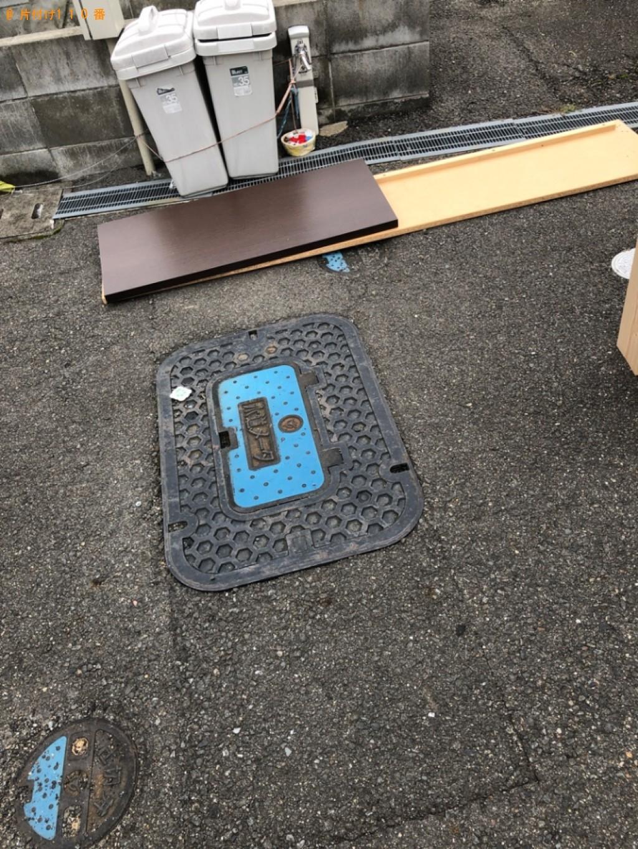 【宇治市】シングルベッド、カラーボックスの回収・処分ご依頼