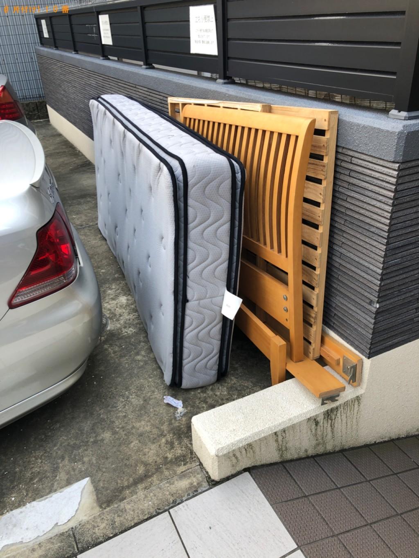 【京都市伏見区】シングルベッド(マットレス付)の回収・処分ご依頼