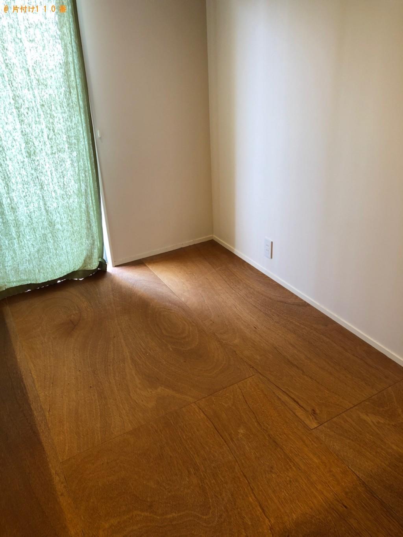 【京都市北区】ダブルベッド、ベッドマットレス、テーブル等の回収