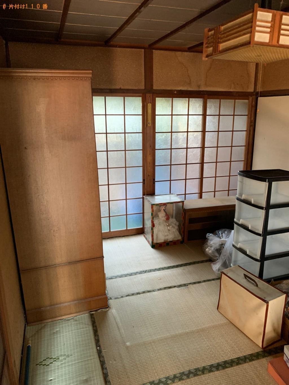 【木津川市木津町】タンス、テーブル、椅子、収納ケース等の回収