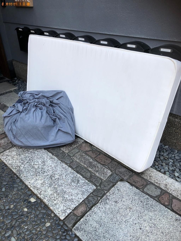 【京都市上京区】シングルベッドマットレス、枕、布団カバー等の回収