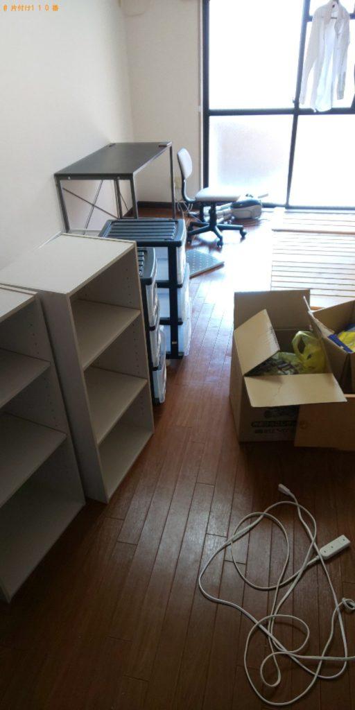 【藤井寺市】洗濯機、本棚、ガラステーブル等の回収・処分ご依頼