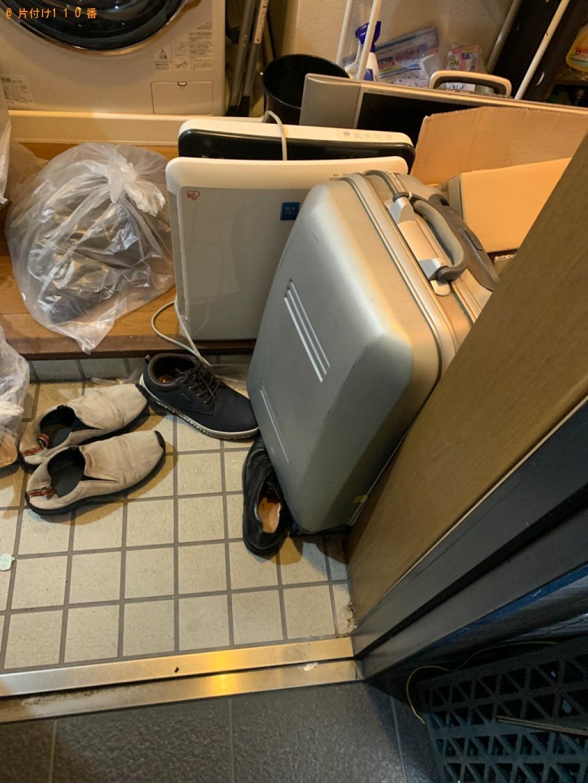 【大館市】遺品整理でテレビ、土、スーツケース、衣類、毛布等の回収