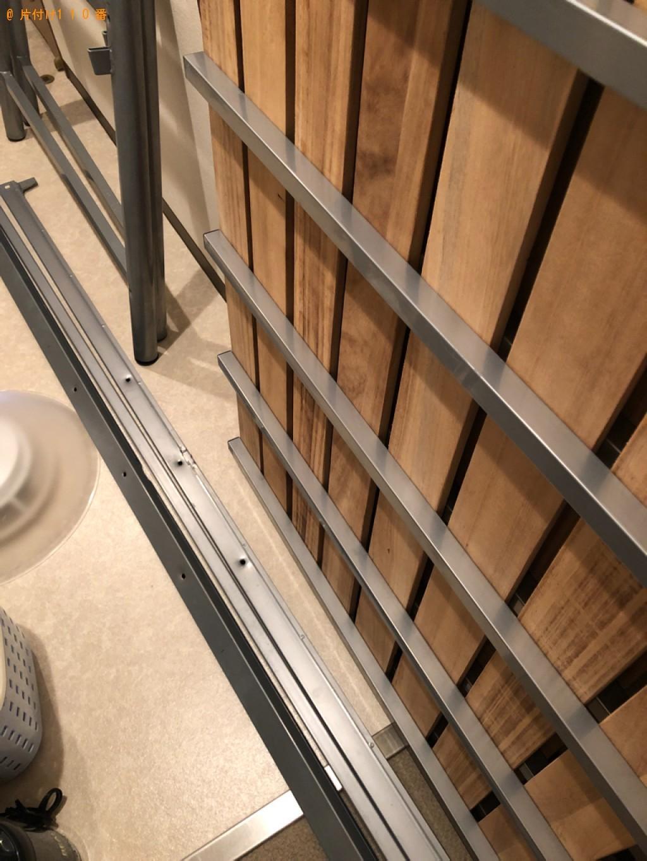 【舞鶴市】遺品整理でシングルベッド、物干し竿、一般ごみ等の回収・処分