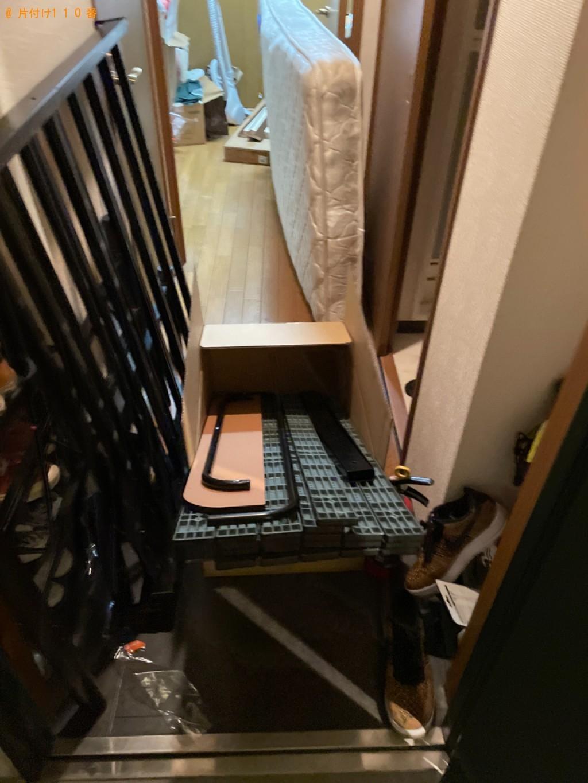 【京都市伏見区】シングルベッド、シングルベッドマットレスの回収