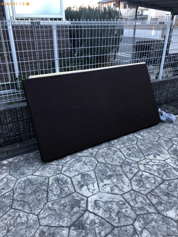 【京都市西京区】マットレス付きシングルベッドの回収・処分ご依頼