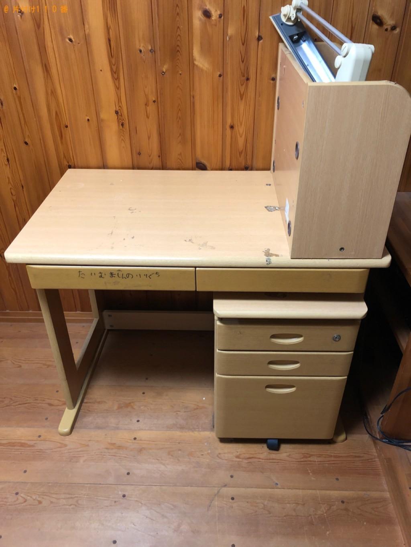 【長岡京市】学習机、椅子の回収・処分ご依頼 お客様の声
