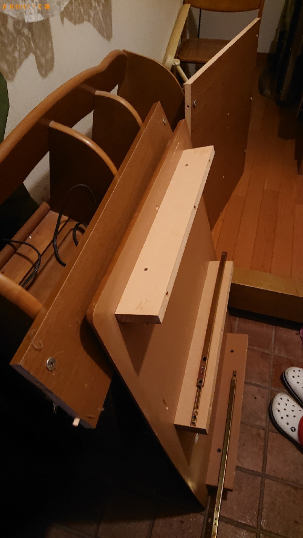 【京都市山科区】学習机、椅子の回収・処分ご依頼 お客様の声