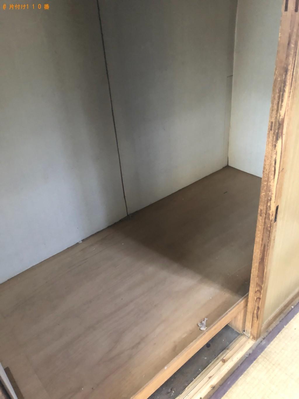 【京都市中京区】布団、椅子、衣類収納ケース、分解した家具