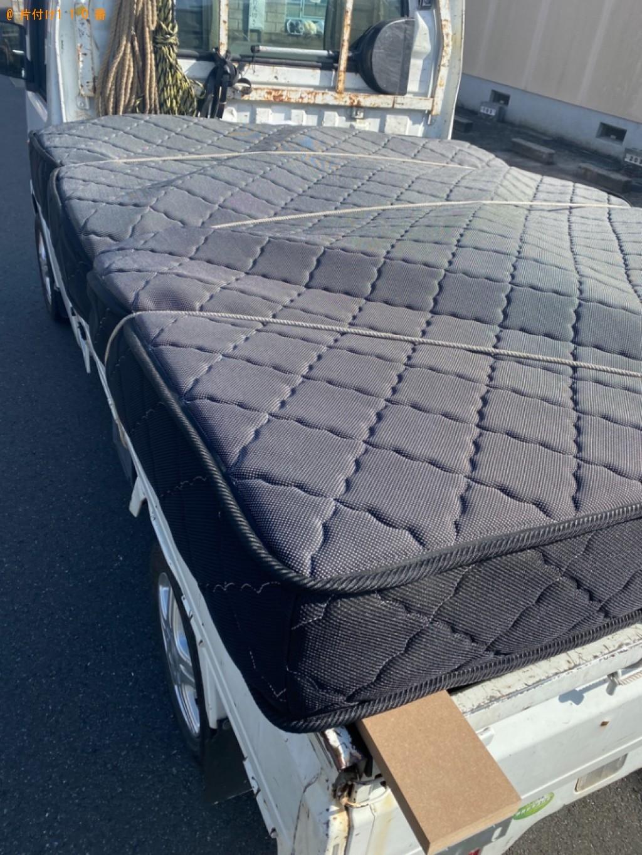 【福知山市】マットレス付きクイーンベッドの回収・処分ご依頼