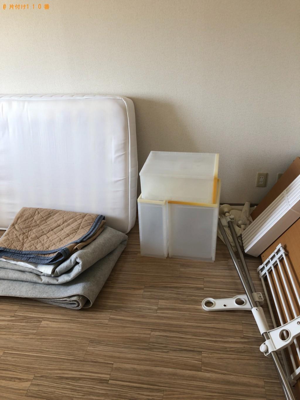 【京都市左京区】洗濯機、シングルベッドマットレス、布団等の回収