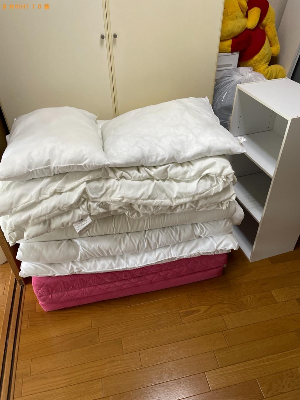 【京都市伏見区】シングルベッドマットレス、カラーボックス等の回収