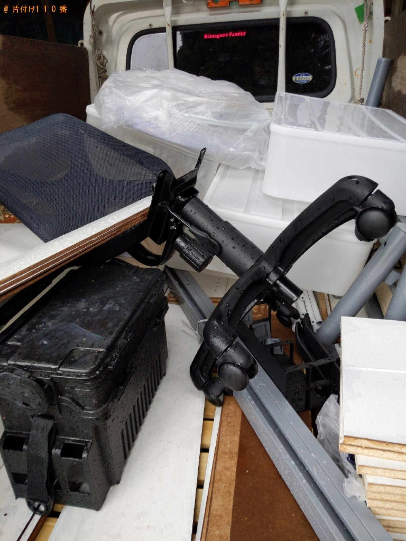 【京都市上京区】本棚、シングルベッド、椅子の回収・処分ご依頼