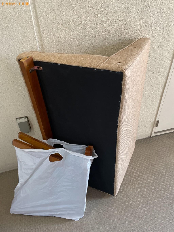【京都市中京区】二人掛けソファーの回収・処分ご依頼 お客様の声