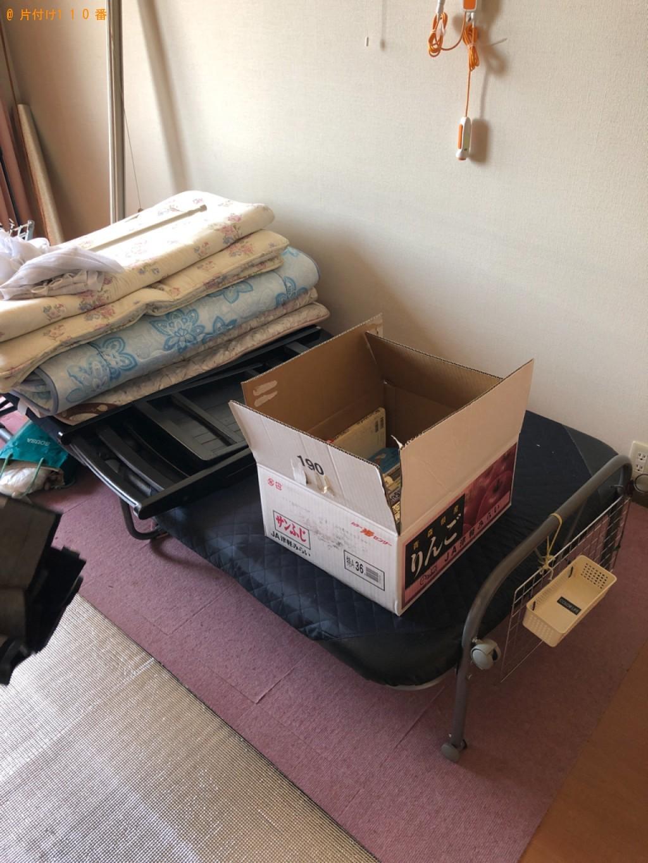 【京田辺市】折り畳みベッド、布団、ハンガーラック等の回収・処分