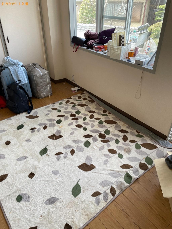 【南丹市園部町】テレビ、カーペット、こたつ、テレビ台等の回収