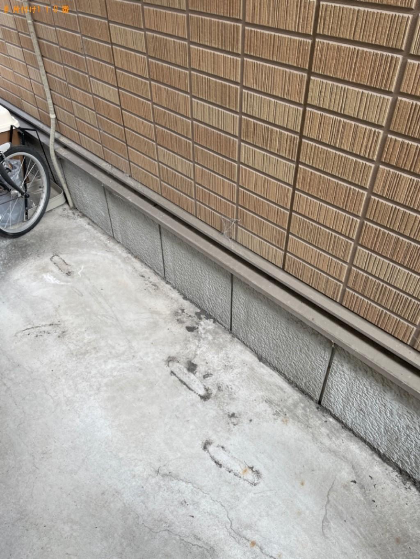 【京都市伏見区】マットレス付きシングルベッド、ラック等の回収