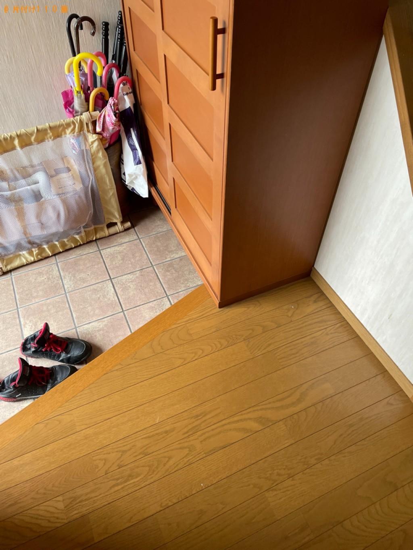 【京都市山科区】エレクトーン、タンス、机、テレビ台等の回収・処分