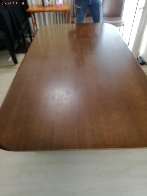 【京都市右京区】六人用ダイニングテーブルの回収・処分ご依頼