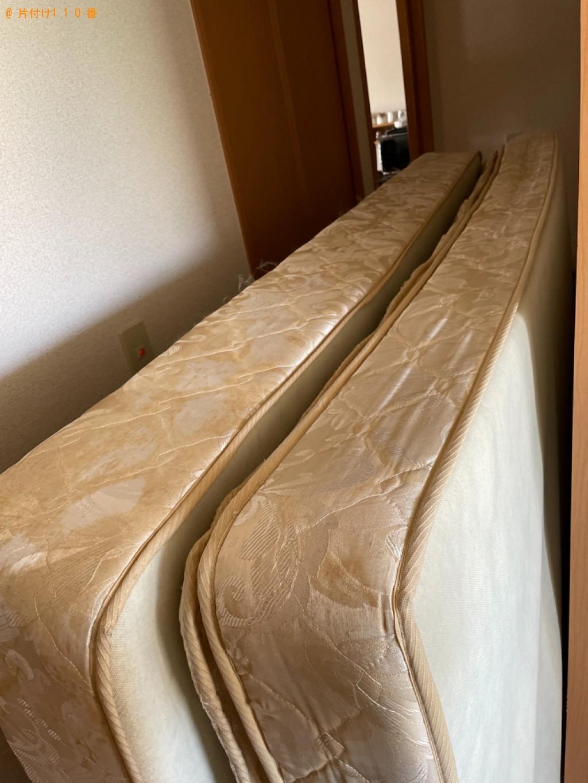 【木津川市】マットレス付きダブルベッドの回収・処分ご依頼