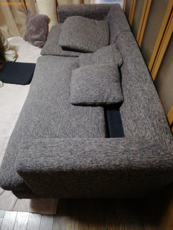 【京都市北区】三人掛けソファー、衣装ケース、パソコン等の回収