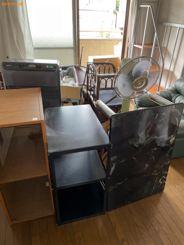 【乙邦群大山崎町】テーブル、扇風機、ソファー、ヒーター等の回収