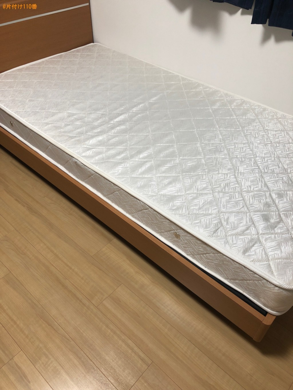 【京都市下京区】マットレス付きシングルベッドの回収・処分ご依頼