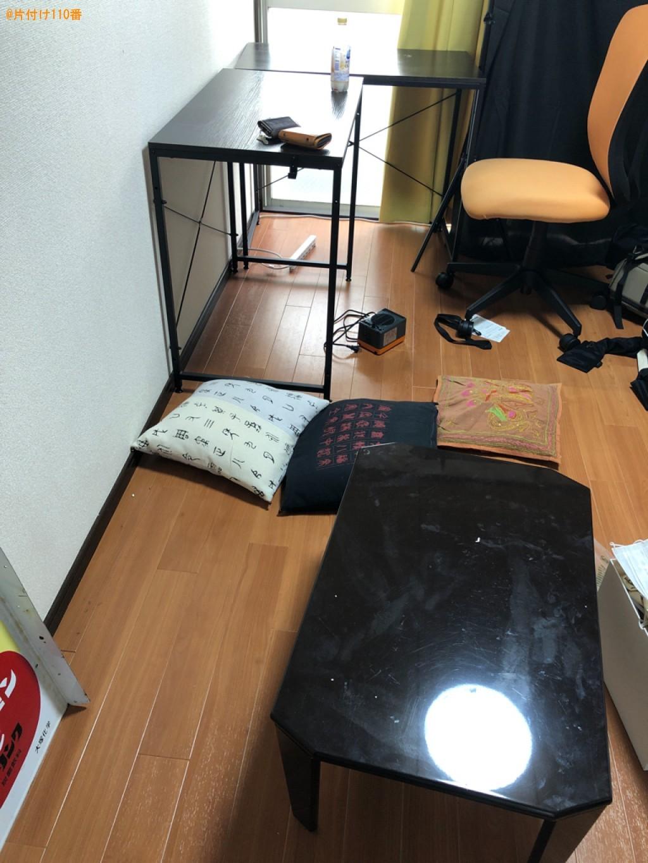 【京都市伏見区】業務用机、本棚、下駄箱、ローテーブル等の回収