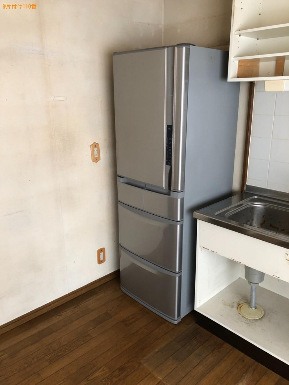 【京都市右京区】冷蔵庫、マットレス付きシングルベッド等の回収