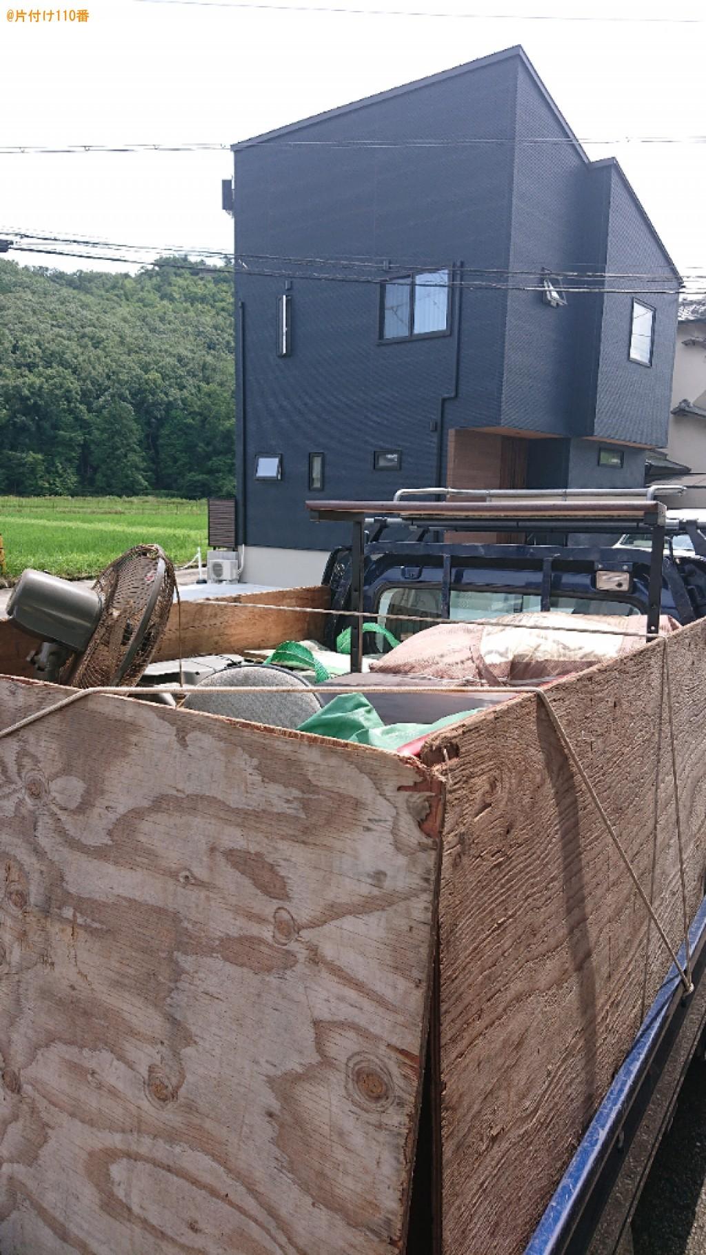 【亀岡市安町】テレビ、PCモニタ、テレビ台、扇風機等の回収・処分